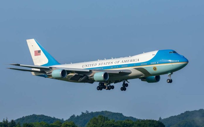 Air Force One Has Close Call...