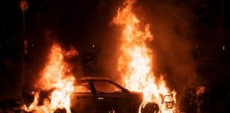 BLM Supporter Goes Up in Flames