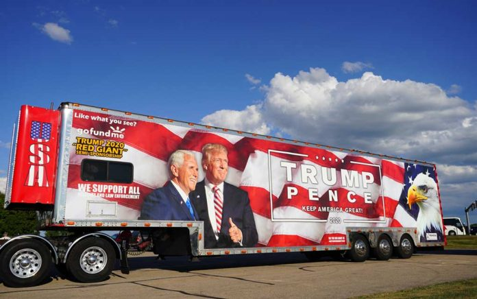 Pro-Trump Caravan Dodges Bullet
